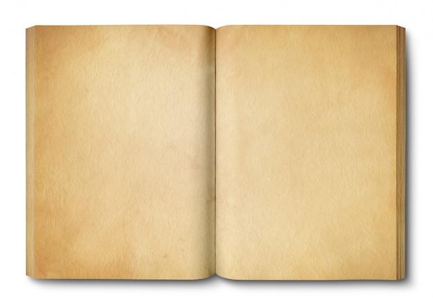 Vintage open boek geïsoleerd
