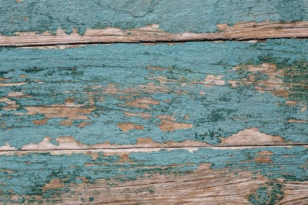 Vintage oude houten textuur. groen met gebarsten verf.