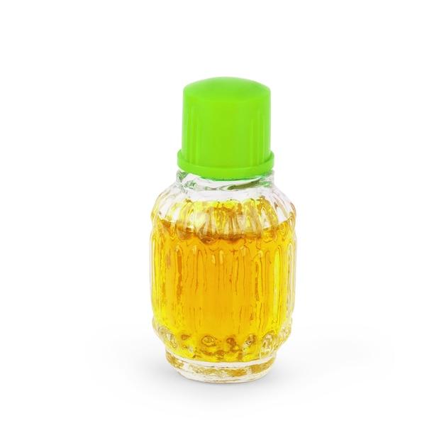 Vintage ouderwetse glazen flessen aromatisch arabisch oud-olieparfum