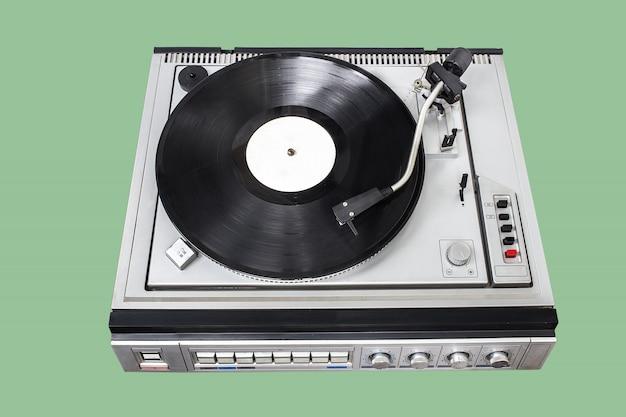 Vintage platenspeler met radio-tuner