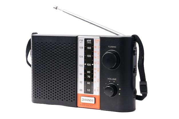 Vintage radio om naar radioprogramma's te luisteren