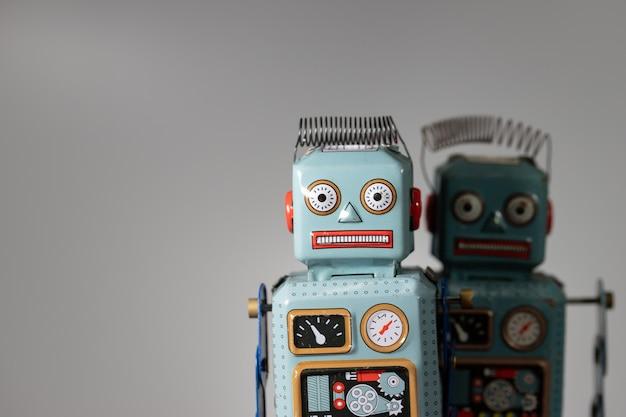 Vintage retro robotblik speelgoed