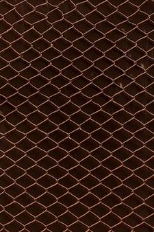 Vintage roestige ketting link hek