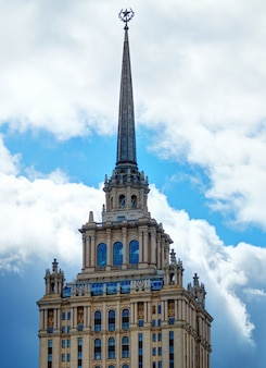 Vintage russische torenspits architectuur