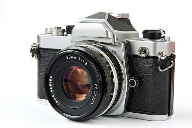 Vintage slr camera geïsoleerd