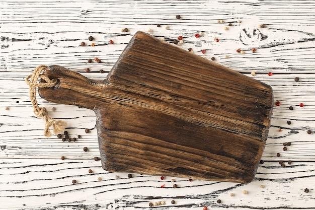 Vintage snijplank met ruimte voor tekst