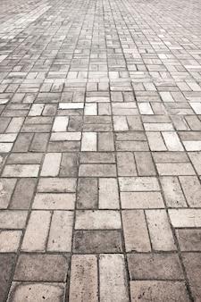 Vintage stenen straat weg bestrating textuur