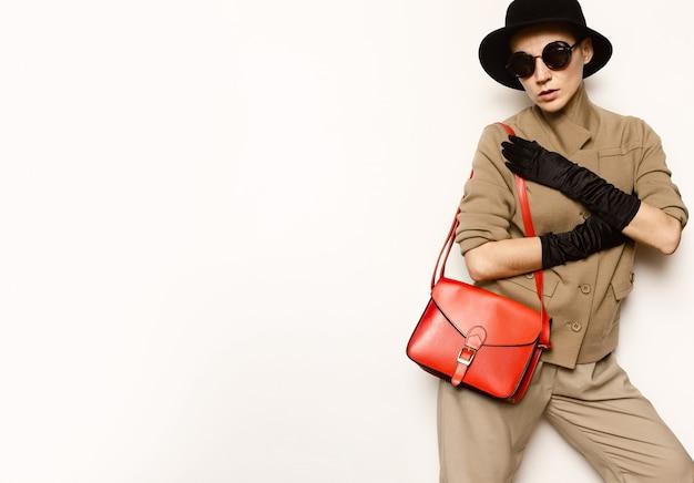 Vintage stijl mode dame