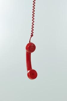Vintage telefoon hangen.