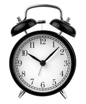 Vintage wekker ingesteld om 10 uur geïsoleerd