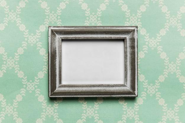 Vintage wit frame met patroonachtergrond