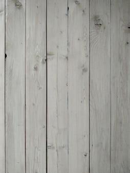 Vintage witte houten tafel achtergrond bovenaanzicht.