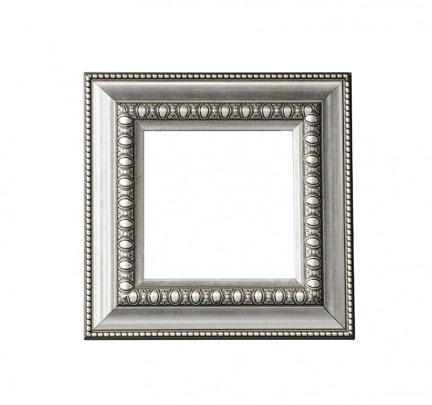 Vintage zilveren frame geïsoleerd