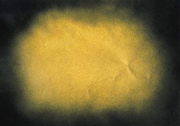 Vintage zwarte en gouden ruistextuur. abstracte spetterde achtergrond voor vignet.
