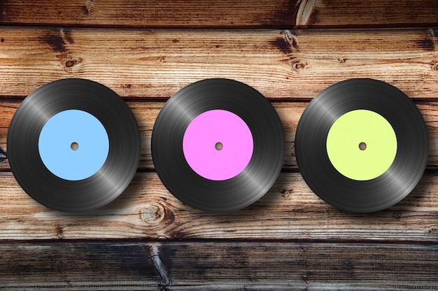 Vinyl op hout