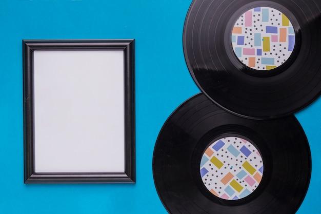 Vinyl schijven met frame