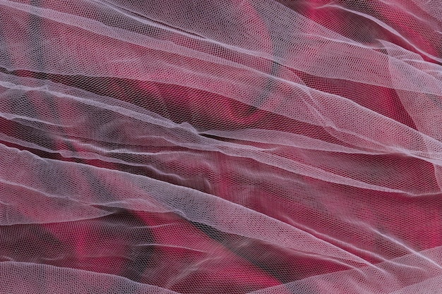 Violet en transparant ornament binnenshuis decor stof materiaal