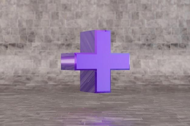 Violet plus-symbool