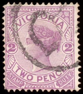 Violet queen victoria stempel