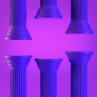 Violette kolommen op paars