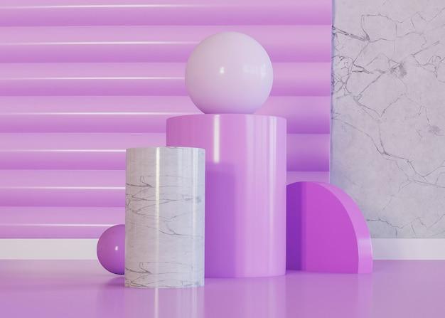 Violette tinten van geometrische vormen achtergrond