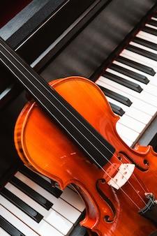 Viool en piano. klassieke muziek.