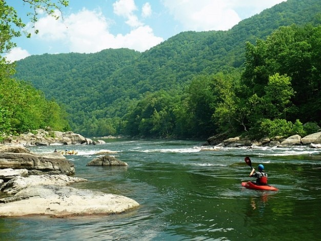 Virginia water west rafting rivier nieuwe