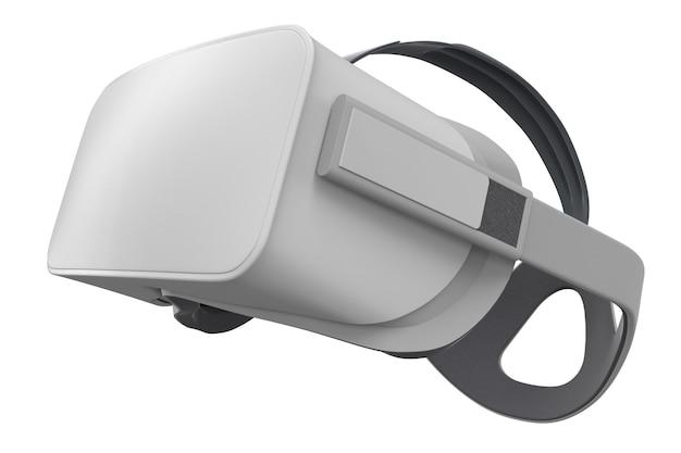 Virtual reality-bril geïsoleerd op wit met uitknippad. 3d-weergave van een bril voor virtueel ontwerp in augmented reality of virtueel gamen