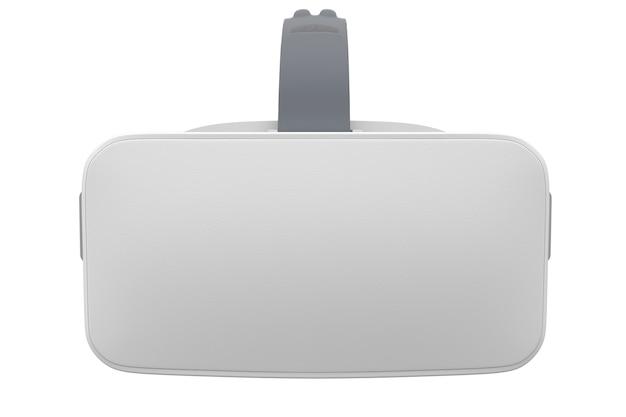 Virtual reality-bril geïsoleerd op wit met uitknippad d rendering