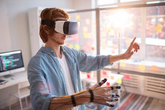 Virtuele presentatie op kantoor