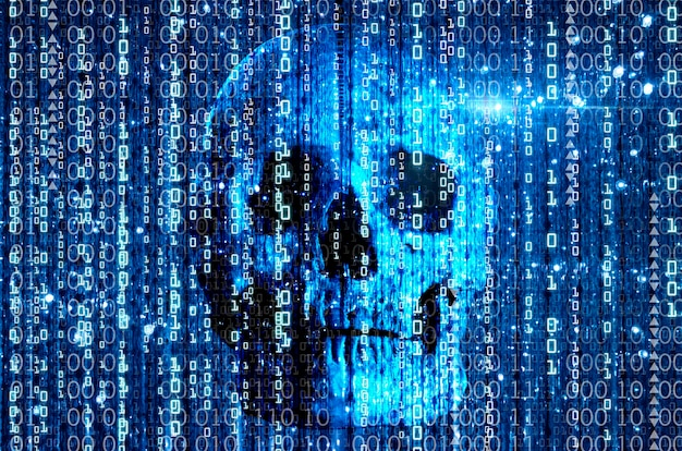 Virus computer concept