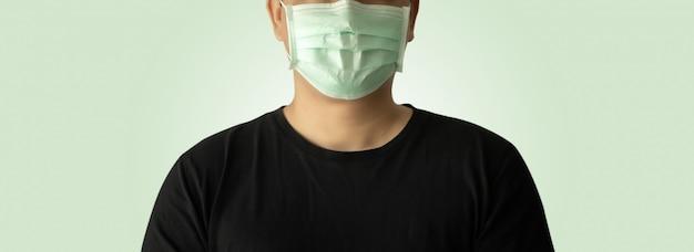 Virus coronavirus covid-19-bescherming gezichtsmasker tegen coronavirusmask ziekenhuiskop