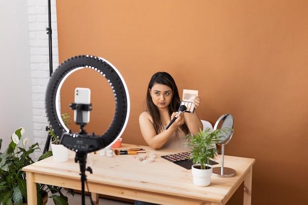 Visagist vlogt haar tutorials