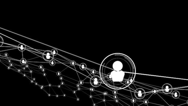 Visionaire mensen netwerk koppeling en verbinding