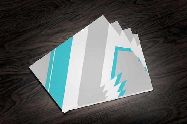Visitekaartje op hout - 3d-rendering