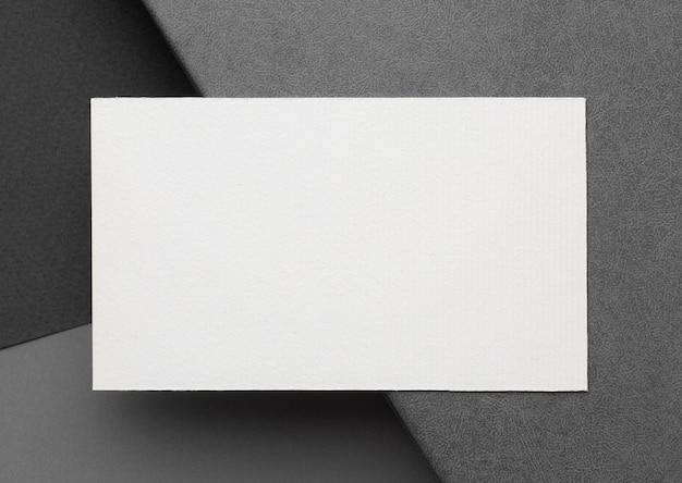 Visitekaartjes met kopie ruimte sjabloon bovenaanzicht