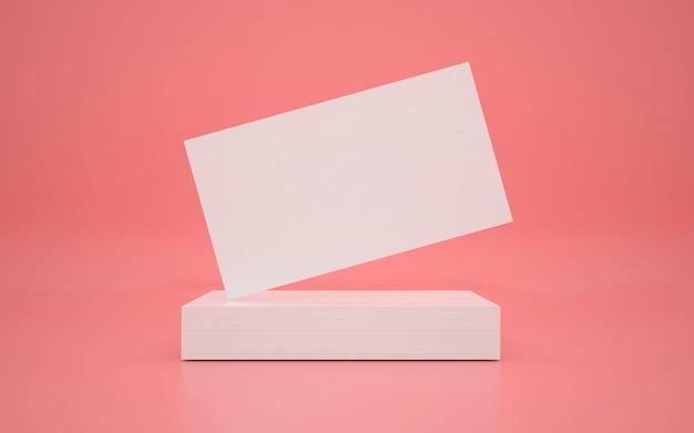 Visitekaartjes mock-up ontwerp