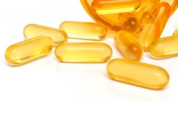 Visoliecapsules, geelgouden medicijncapsule