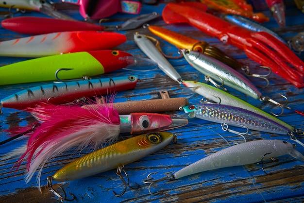Vissen lokt pakken verzameling minnows