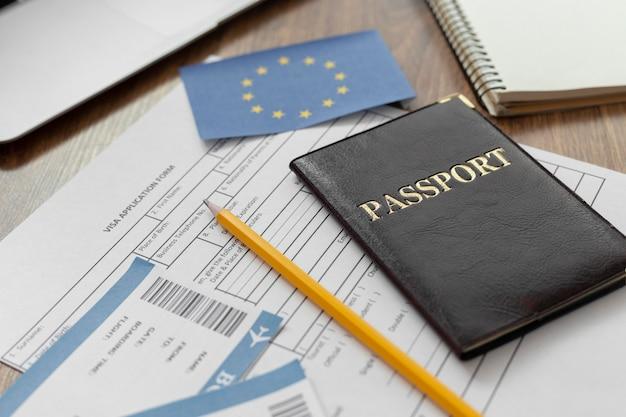 Visumaanvraag voor europa regeling
