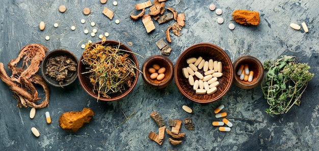 Vitaminen, tabletten en pillen