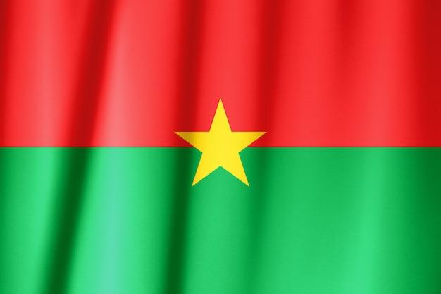 Vlag met de pan-afrikaanse kleuren