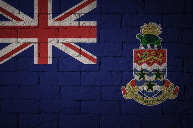 Vlag met originele verhoudingen. close-up van grungevlag van de kaaimaneilanden