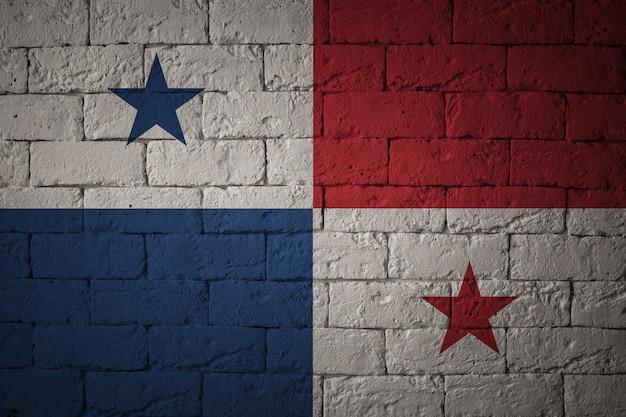 Vlag met originele verhoudingen. close-up van grungevlag van panama