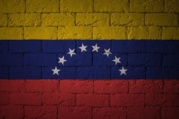 Vlag met originele verhoudingen. close-up van grungevlag van venezuela