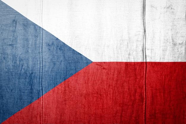 Vlag op de achtergrond van de stoffentextuur.