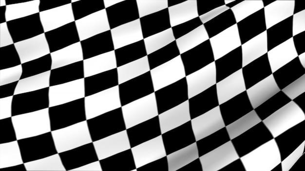Vlag racen door golven