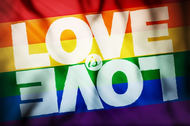 Vlag regenboog liefde is liefde