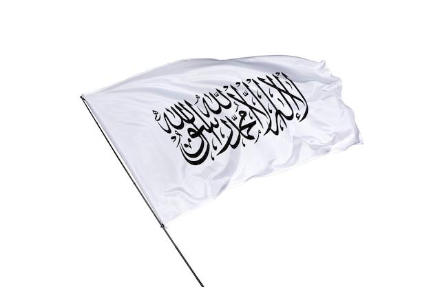 Vlag van afghanistan op een witte achtergrond