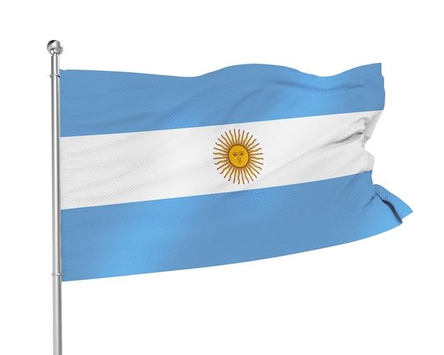 Vlag van argentinië op een witte achtergrond